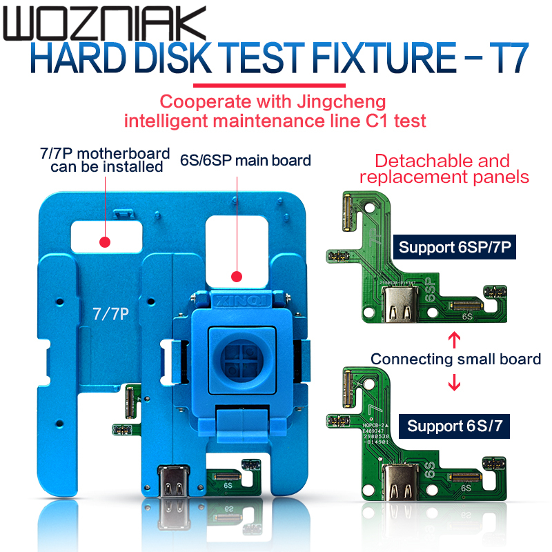 JC T7 T8 NAND Test Fixture Module For IPhone 6S/6SP/7/7P/8/8P Logicboard Repair And JC C1 Smart Repair Box