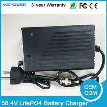 58.4 В 3A 3.5A 4А Интеллектуальные LifePO4 Зарядное Устройство Для 16 S 48 В Lifepo4 Батареи