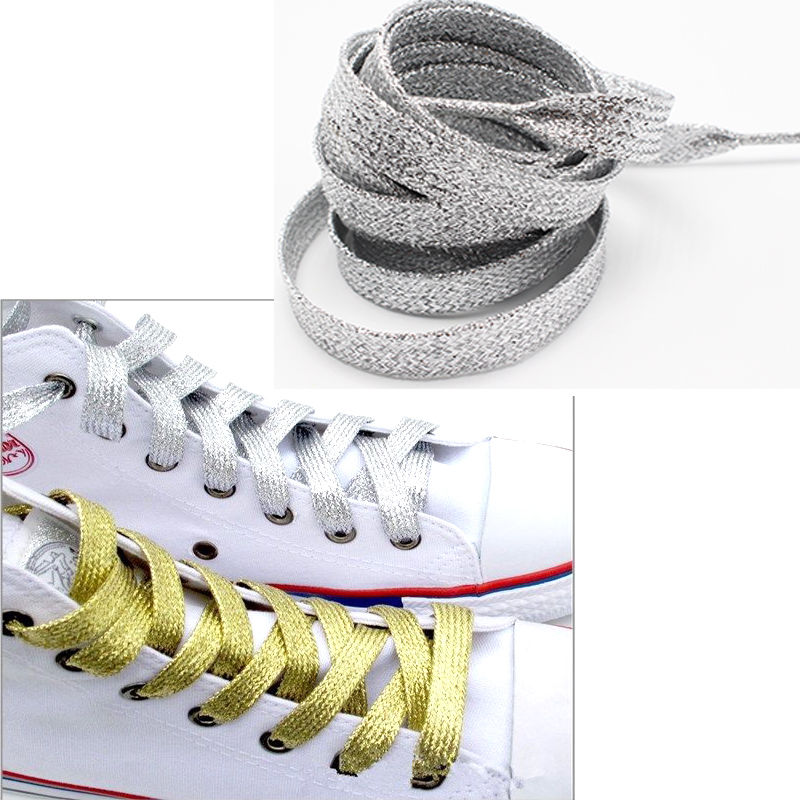 gootrades Silver Metallic Glitter Flat Shoelaces Canvas Sneaker Athletic  Boots Shoe 45inch-in Shoelaces from Shoes on Aliexpress.com  6bfd7b371257