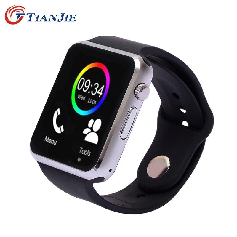imágenes para Bluetooth Reloj Inteligente Con Cámara de Fitness Podómetro Sleep Tracker Llamada Respuesta Mensaje Recordatorio MP3 A1 SmartWatch Para Android