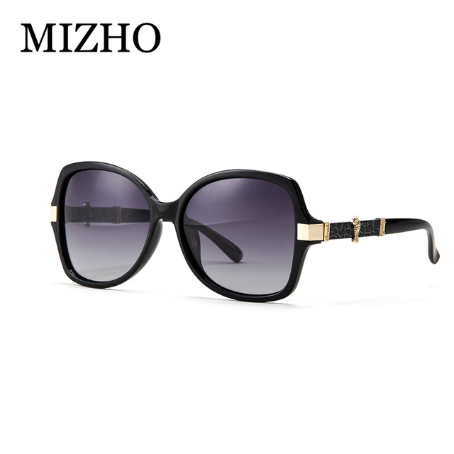MIZHO Leopard Dotted Design Boutique Sunglasses Women Polarized With BOX High Quality UVA Polaroid Original Brand Glasses Luxury