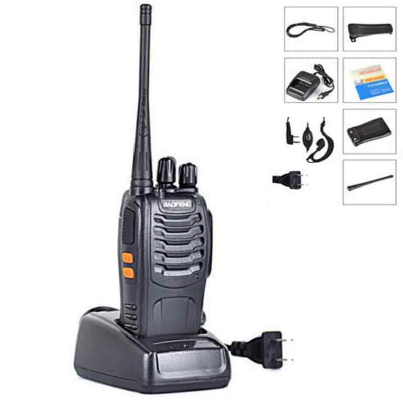 BAOFENG BF-888S Walkie talkie UHF Two way radio baofeng 888s UHF 400-470MHz 16CH Portable Transceiver with Earpiece
