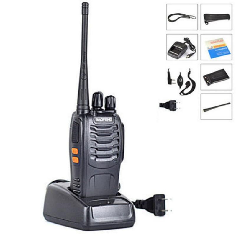 BAOFENG BF-888S Walkie talkie UHF Two way <font><b>radio</b></font> baofeng 888s UHF <font><b>400</b></font>-470MHz 16CH Portable Transceiver with Earpiece image