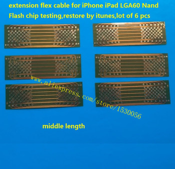 extension flex cable for iPhone iPad LGA60 Nand Flash chip testing,restore by itunes,lot of 6 pcs image