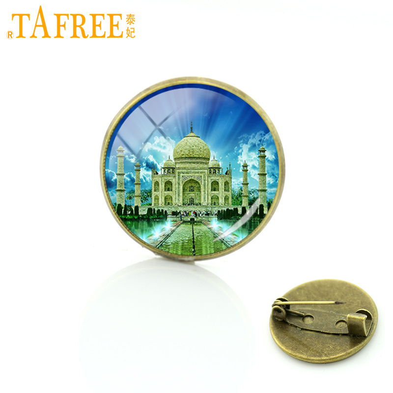 TAFREE 2017 Temple Taj Mahal Brooch one of the most beautiful buildings in the world Badge charms handmade pins jewelry H591