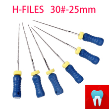 6pcs 30#-25mm Dental Protaper Files H Root Canal Dentist Materials Dentistry Instruments Hand Use Stainless Steel