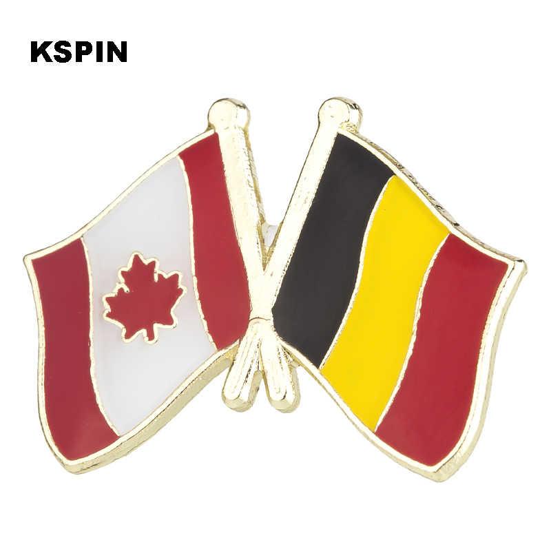 Warna Hitam Lencana Bendera Kerah Pin Lencana untuk Pakaian Pin Peniti Bros XY0087