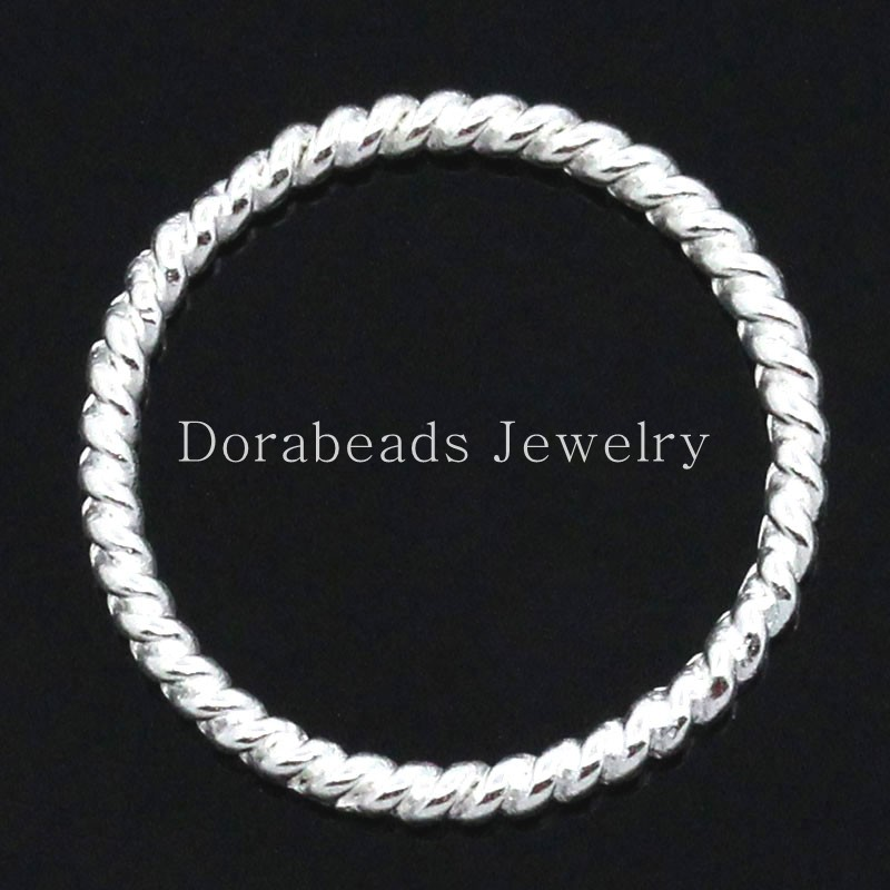 Lovely Closed Jump Rings for Connectors/Pendants Jewellry Findings Silver Plated Striped 18mm Dia,50PCs (B24078)