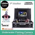 7 Дюймовый Монитор рыбалка инструменты подводная камера с DVR 600TVL IP68 Водонепроницаемый DC12V 2 шт. СВЕТОДИОДНЫЕ фонари с 100 М кабель