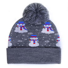 XJHOOOO 2018 Winter Women Beanie Hats Cartoon Snowman Print Christmas Cap  Beanies For Ladies Knitted Hat 965b35c71cb4