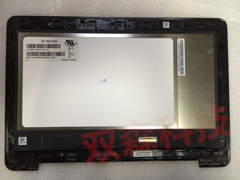 For Asus Transformer Flip Book TP200 TP200S TP200SA LCD Display Touch Screen Digitizer Assembly with Bezel free shipping ноутбук трансформер asus book flip tp200sa fv0108ts 90nl0081 m03510