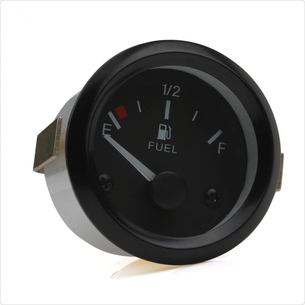 Universal Car Fuel Gauges Auto Fuel Level Gauge Meter with Fuel Sensor E 1 2 F White Pointer in Fuel Gauges from Automobiles Motorcycles