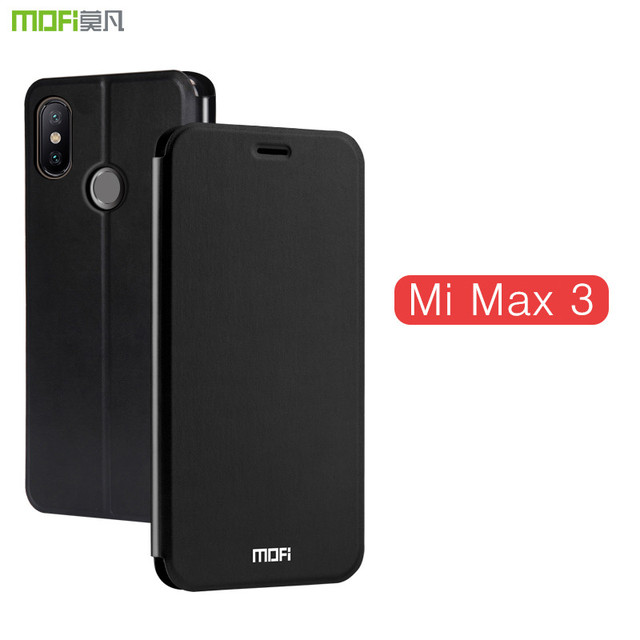 detailed look 35257 fa6cb US $9.52 28% OFF|For Xiaomimi Mi Max 3 Case Flip Cover Mofi For Xiaomi Mi  Max3 Case Stand Pu Leather Cover Mimax3 Pure Color Black Blue Gold-in Flip  ...