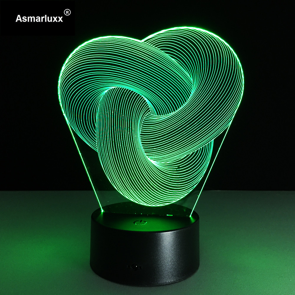 Image 5 - Abstract Circle Spiral Bulbing 3D LED Light Hologram Illusions 7 Colors Change Decor Lamp Best Night Light Gift For Home Deco-in LED Night Lights from Lights & Lighting