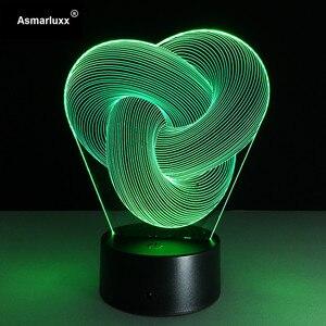 Image 5 - บทคัดย่อวงกลมเกลียวBulbing 3D LED Lightโฮโลแกรมภาพลวงตา 7 สีเปลี่ยนโคมไฟBest Night Lightของขวัญบ้านdeco