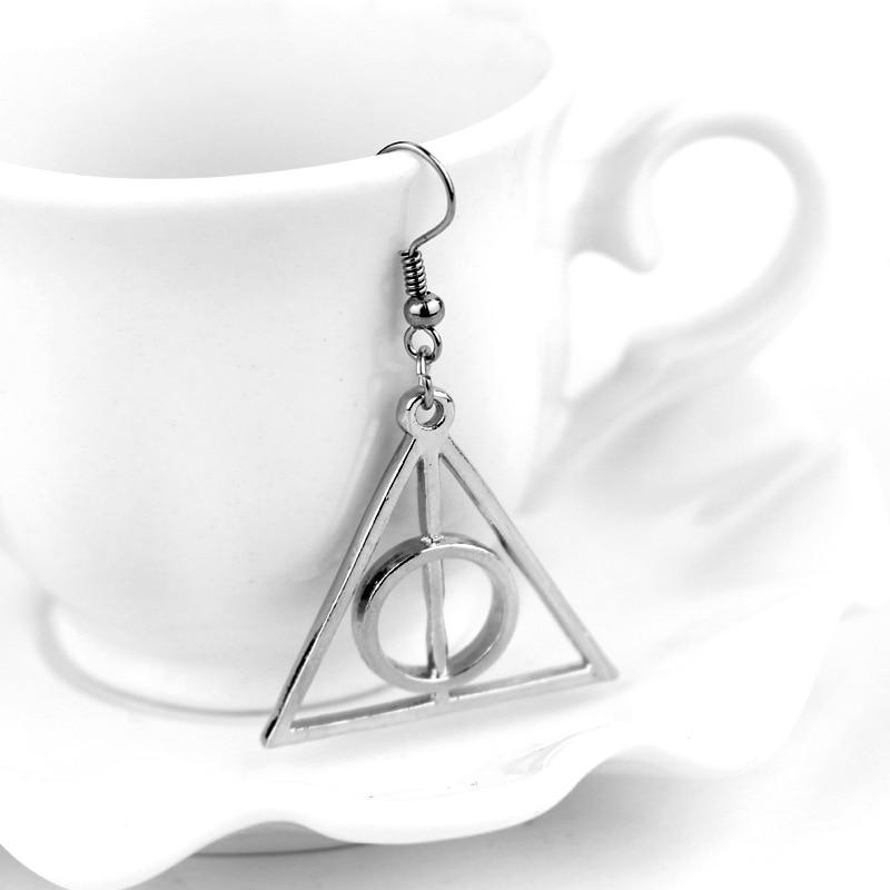 Jewelry & Accessories Vintage Deathly Hallows Harri Potter Stud Earrings Charm Hogwarts Earrings For Women Wedding Jewelry Accessories Gifts Stud Earrings