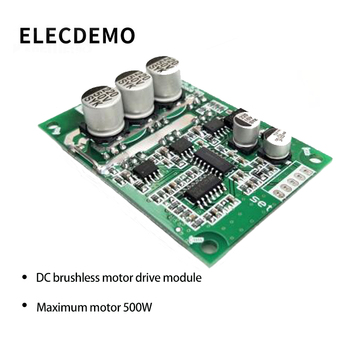 цена на V6.3E2 DC Brushless Motor Drive Control Board No Hall 12V 24V 36V 500W DC 15A function demo board