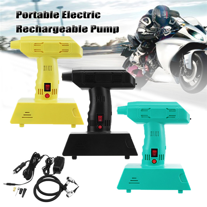 High Quality Wireless Portable Electric 12V Cordless Rechargeable Car Bike Air Pump Compressor Tire Inflator electric tire inflator air pump portable tiny smart for electric bike mountain bicycle
