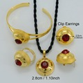 SMALL Ethiopian Ethnic Jewelry sets Necklaces/Earrings/Ring/Bangle Gold Plated African Habesha Wedding Gift Eritrea sets #000616