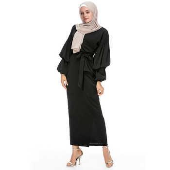 Kaftan Abaya Robe Dubai Arab Islam Muslim Hijab Dress Qatar UAE Oman Caftan Marocain Abayas For Women Turkish Islamic Clothing