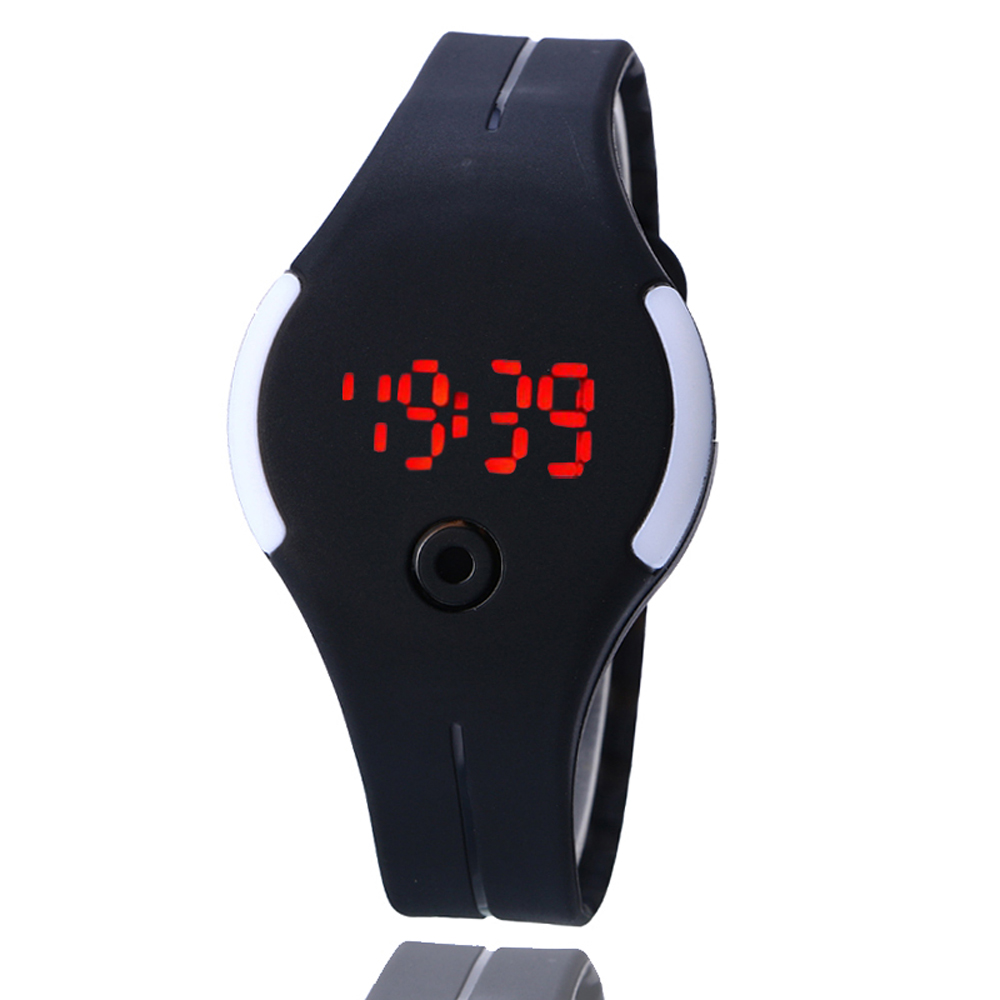 Electronic Digital Led Silicone Watch Wristwatch Bracelet Kids Boys Children Girls Beautiful Students Women Watches Montre Femm Watches