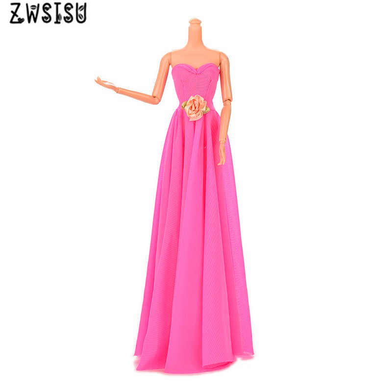 Free shipping New hot Handmade Party Doll's beautiful Dress Clothes Gown For Barbiee best baby christmas