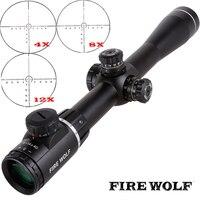 Огненный волк 4 14X40SF оптика Riflescope боковой Параллакс тактические охотничьи прицелы винтовка Сфера крепления для снайперская винтовка для ст
