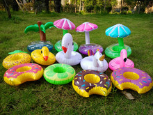 HOT!1pc Cartoon swimming party resort Inflatable Water Floating Coke Cup Holder Stand Station Pool Bath Toy Drink coasters