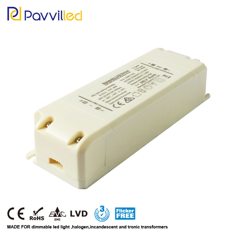 Flicker-free 30-42W 1.0A 30-42Vdc constant current dimming Triac Dimming led driver transformer EMC LVD SELV isolation design