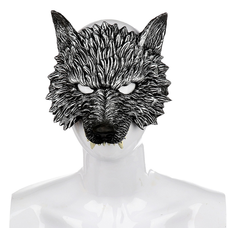 Halloween 3D Wolf Mask Party Masks Cosplay Horror Wolf Masque Halloween Party Decoration Accessories 2
