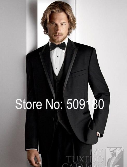 5 Pieces Wedding Suits For Men (Coat+Pants+Vest+tie+) Slim Fit Customized Peak Lapel TZ73001 Party Wear Mens Suits