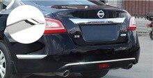 Нержавеющаясталь задний бампер потертости отделка Подходит для Nissan Teana 2013 2014 2015 2016 авто аксессуары