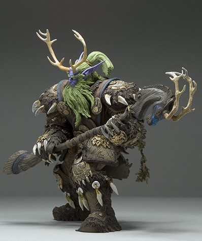 Collection 20cm WOW Online Game Night Elf Druid Malfurion Broll Bearmantle Figure Figurine model Toy Exquisite Collectible Gift 2
