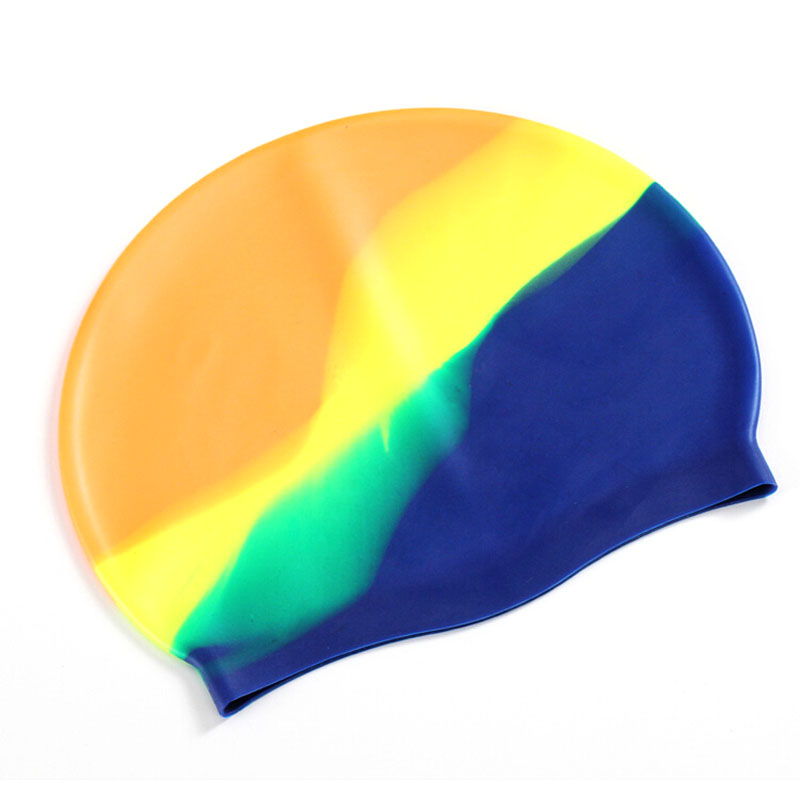 все цены на High Quality Silicone Rubber Children Swimming Cap Adult Men Women Waterproof Swim Caps Hat Swimming Accessories онлайн