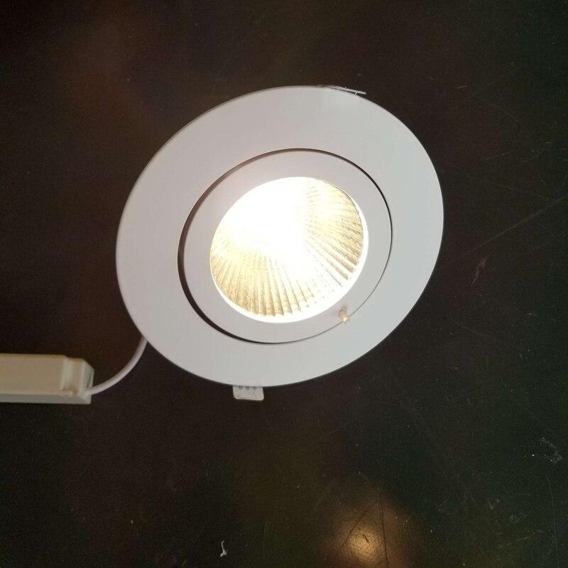 Adjustable COB LED spot downlight ceiling downlight rotatable LED trunk light gimbal gimble direction adjustable LED spot light цена