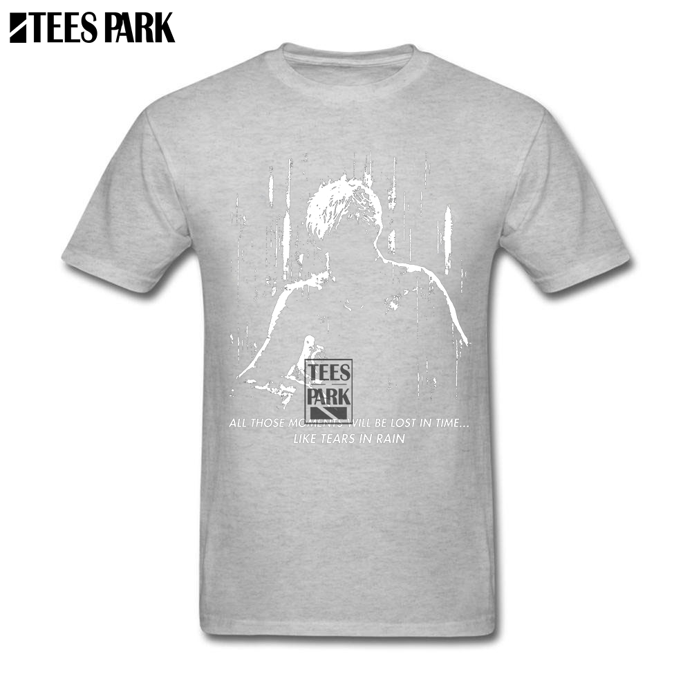 StreeWork T Shirts Blade Runner Like Tears in Rain Mens Designer T Shirts Men 100% Cotton Short Sleeve Clothes New Design Summer