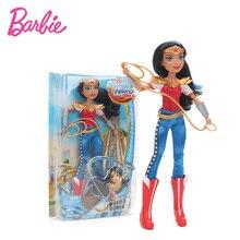 30cm Barbie Doll Super Hero Girls Wonder Woman Batgirl Starfire Supergirl PVC Action font b Figure