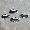 10 PCS 3*1.6 CM Crocodile Animal Clothes Embroidered Iron on Patches for Clothing DIY Stripes Motif Appliques parches bordados