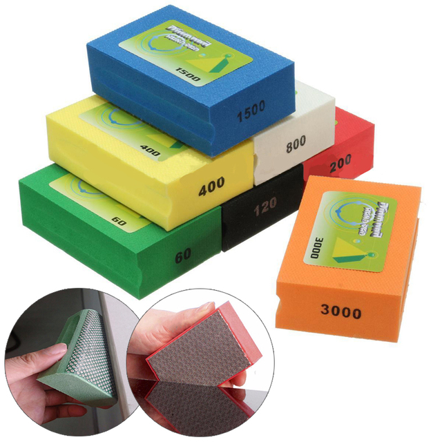 US $8 11 30% OFF|Diamond Hand Pads Polishing Granite Marble Glass Stone  Block Polishing Hand Pads 60 3000 Grit for Diamond Abrasive Tools-in  Abrasive