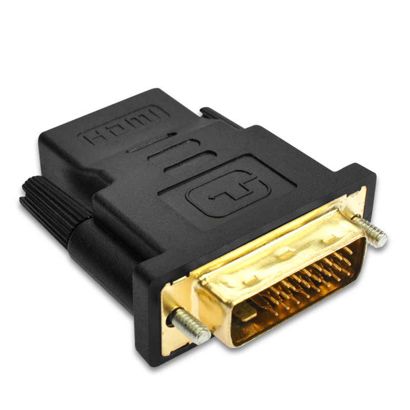Mostotal DVI 24+1 To HDMI Adapter Cable 24k Gold Plated Male to Female HDMI To DVI Converter 1080P for HDTV Projector Monitor