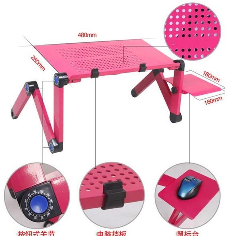 Wholesale 48*25cm Folding Laptop Desk Bed Portable Tablet PC Desk With USB Fan And Mouse Board