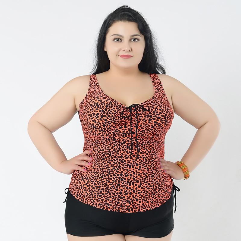 8088e1e149 New Sexy Plus Size Women Leopard Bikini One Piece Print Swimwear Woman  Swimsuit 4XL 5XL 6XL