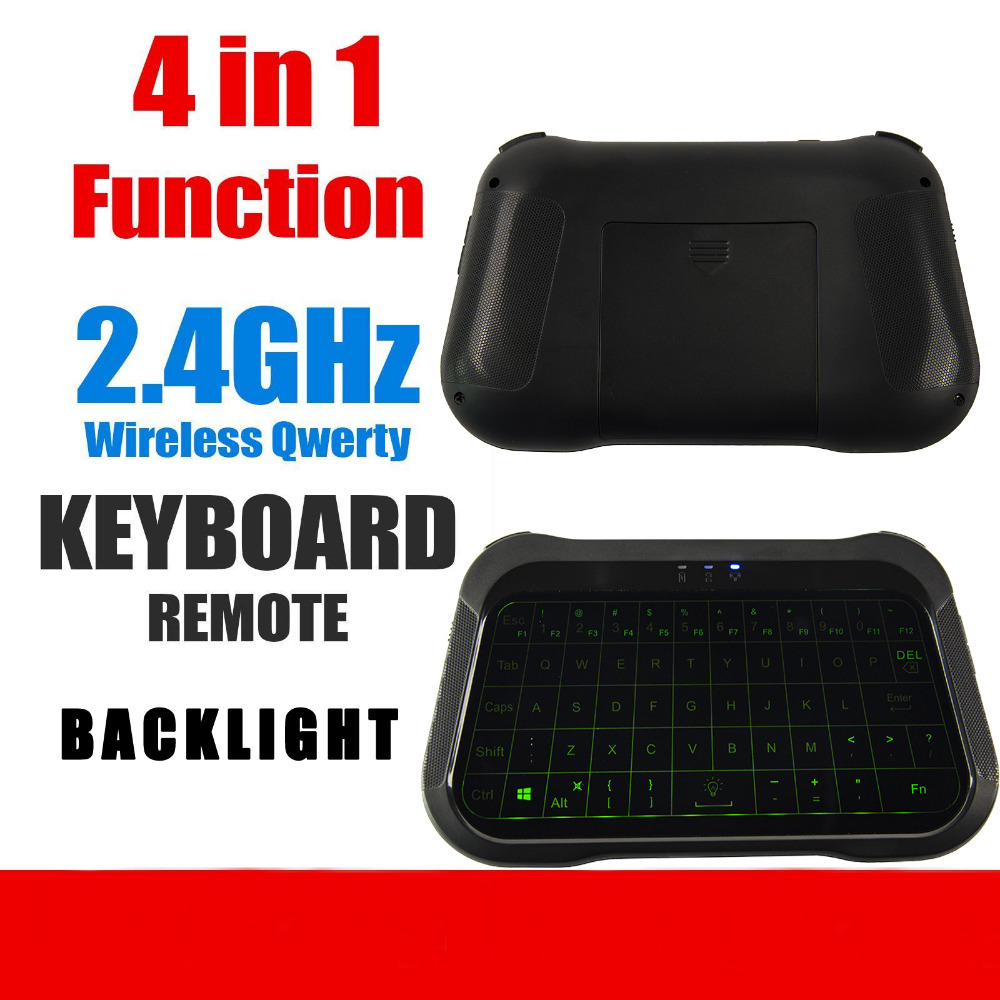 Calvas T18 2.4G Wireless Keyboard with Touchpad QWERTY Backlit Keyboard Wireless Smart Remote Controller For Andriod 8.1 TV Box