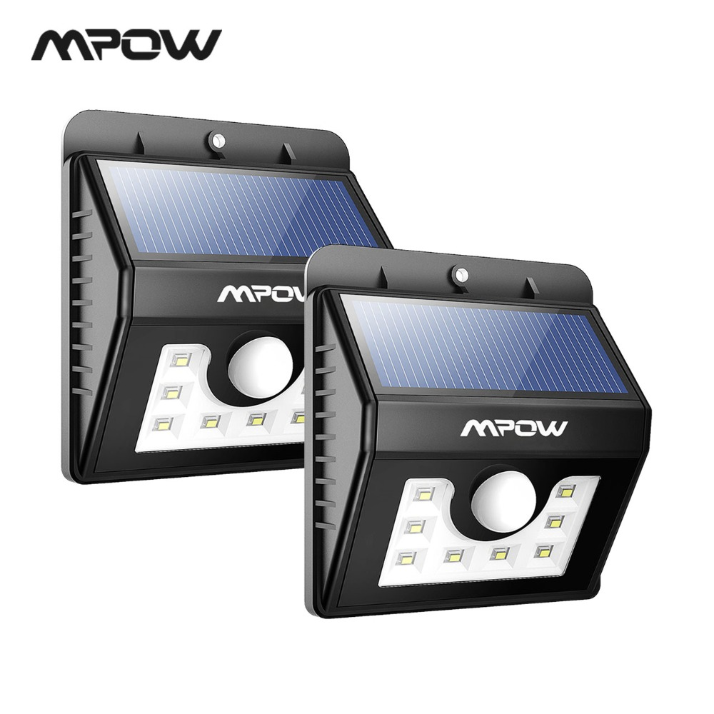 Mpow Msl6 2 Packs Weatherproof Solar Light 8 Led Lamp