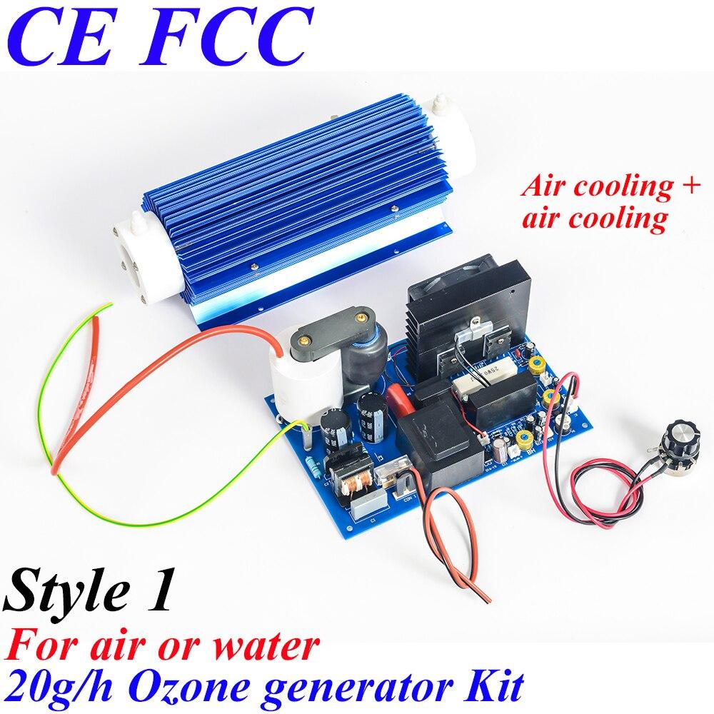 Pinuslongaeva CE EMC LVD FCC 20 g/h Quartz tube type générateur d'ozone Kit d'ozone légumes fruits stérilisateur air purificateur d'ozone ion