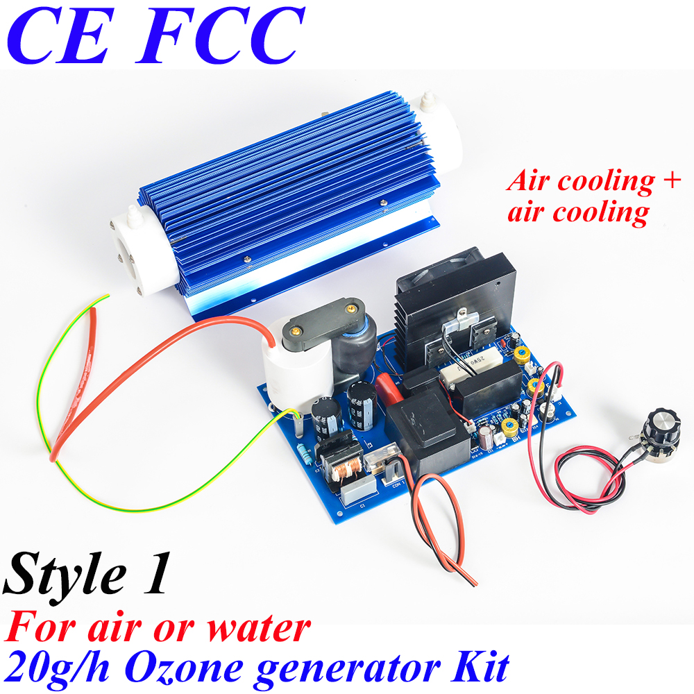 Pinuslongaeva CE EMC LVD FCC 20g/h Quartz tube type ozone generator Kit ozone vegetable fruit sterilizer air purifier ozone ion