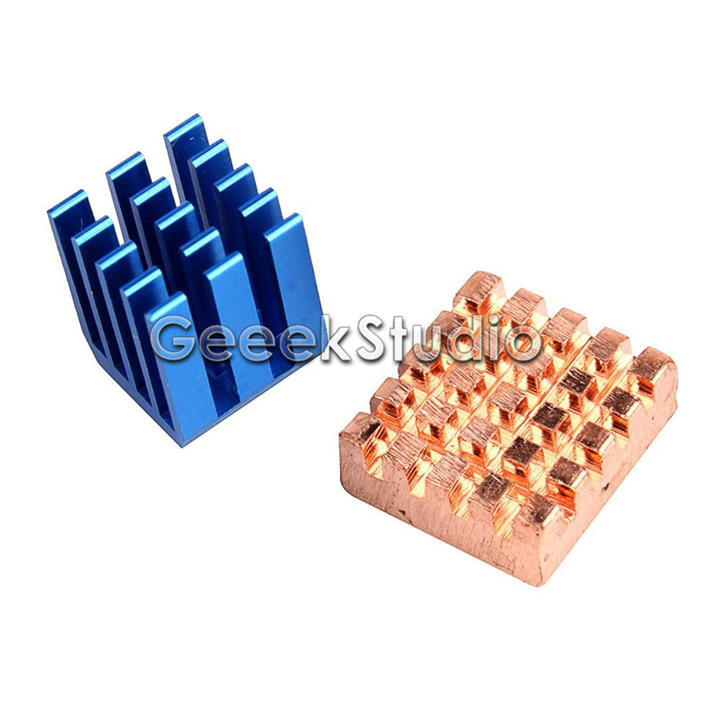 Copper Aluminium Cooling Heatsinks For Raspberry Pi 2 / 3 Model B