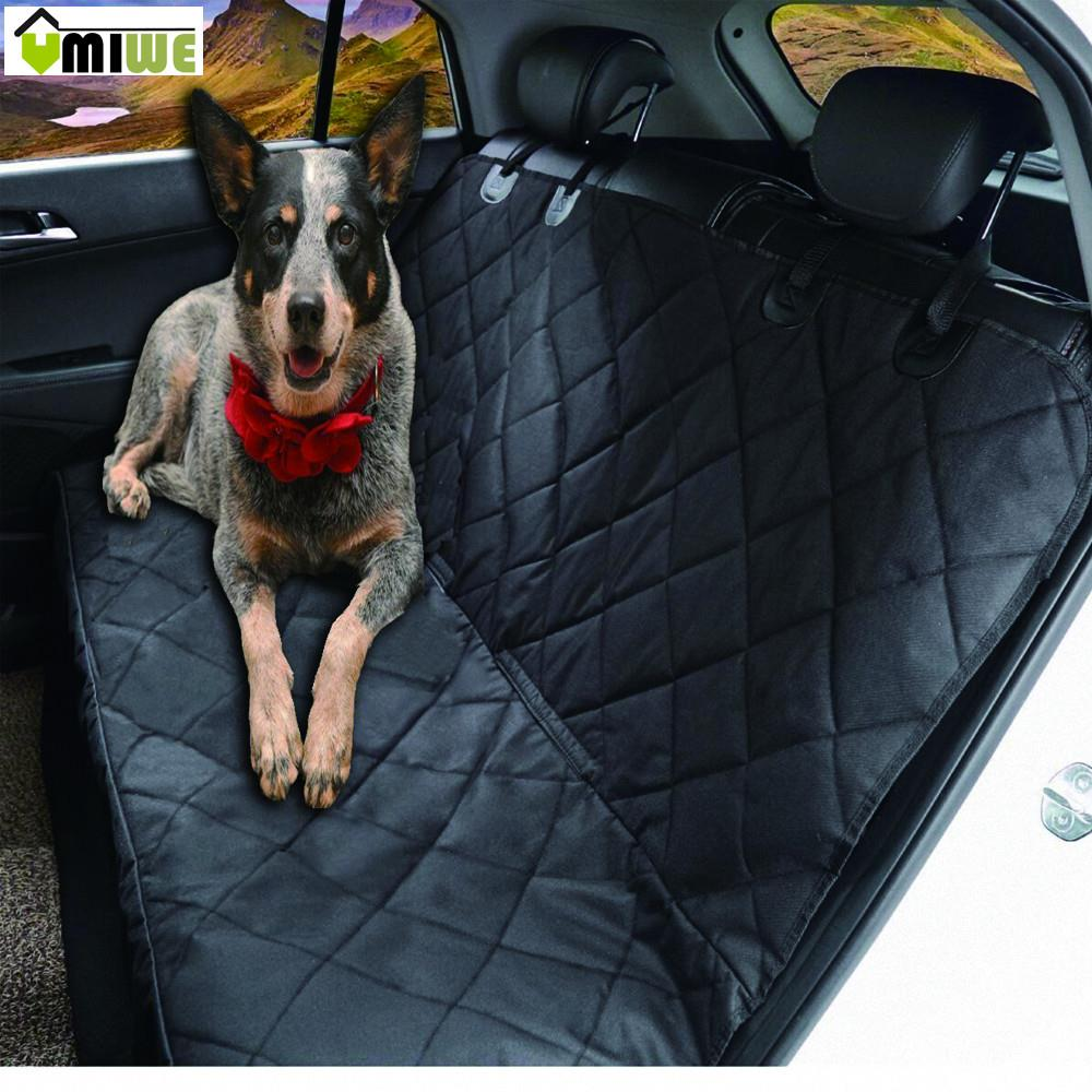 Umiwe Dog Car Seat Covers Waterproof Full Backseat Pets Protector Non-Slip Liner For SUV Vehicles Car Backing Seat Cover For Dog