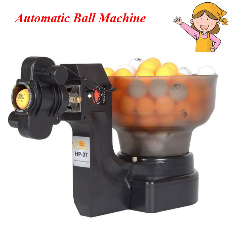 Ping Pong Table Tennis Robot Ball Machine Automatic Ball Machine for Practice 36 Spins on Machine 40mm Ball HP-07 retractable table tennis table plastic strong mesh net portable net kit net rack replace kit for ping pong playing yc886657