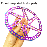 Fourier titanium coated color bicycle six nail disc brakes 140mm 160mm 180mm 203mm MTB road mountain bike brake disc